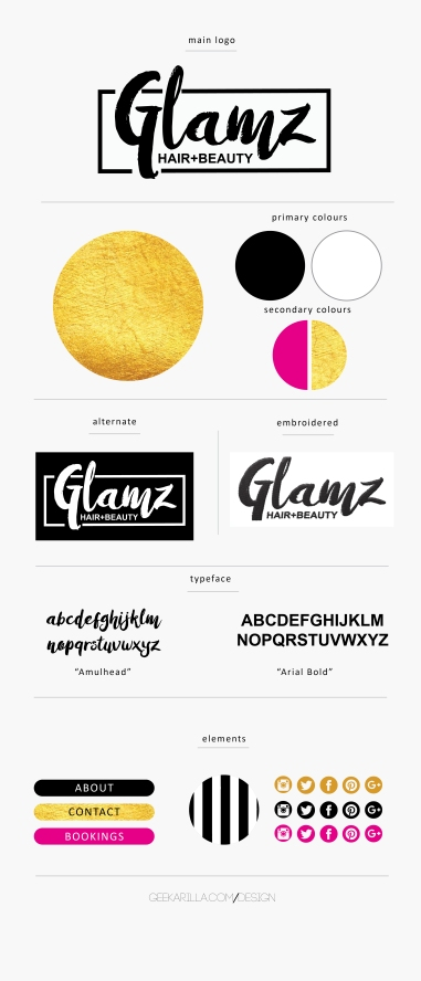 Glamz brand board